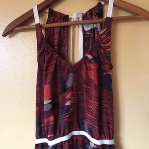 Ecote Dresses - Ecote UO natural printed asymmetrical hem dress XS